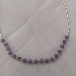 Liquid Sterling Amethyst Necklace